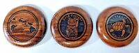 Hawaiian Wall Plaques NOKAOI Made With Tropical Woods Lot Of 3 NEW