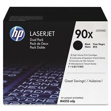 NEW GENUINE SEALED PERFECT HP TONER CE390XD CE390X 90X CARTRIDGE M4555 DUAL PACK