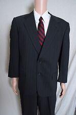 Vintage '90s Alan Lebow for Hartz gray pinstripe 2 piece suit 2 button 46 40X27