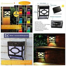 Greluna Solar Wall Lights Outdoor, 2 Modes Solar Led Waterproof Lighting for Dec