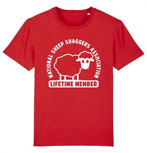 SHEEP SHAGGERS ASSOCIATION Funny Welsh Wales T-Shirt
