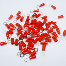 20PCS Red Ring Insulated Wire Connector AWG16-22 Electrical Crimp Terminal #CA