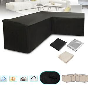 L Shape Waterproof UV Garden Patio Furniture Sofa Lounge Dust Cover Protector