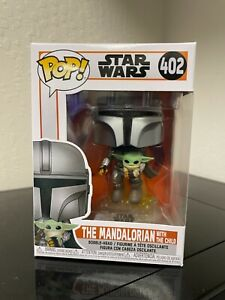 FUNKO POP! THE MANDALORIAN WITH THE CHILD STAR WARS MANDO #402 IN HAND SHIPS NOW