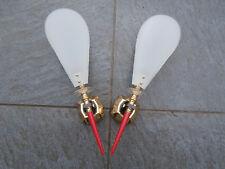 Paire d'Appliques Design Plastique 1960-1970 Rouge/doré/Plexiglass COLLECTION
