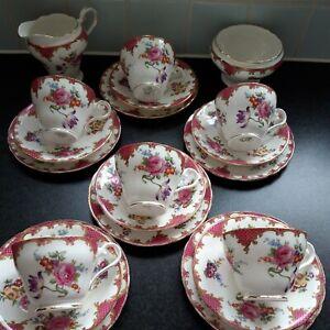 Royal Aynsley Vintage Bone China Tea Set 20 pieces