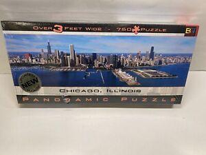 Chicago Illinois 750 Panoramic Jigsaw Puzzle Buffalo Games 3 FT Brand New SEALED