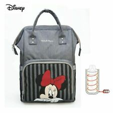 Disney Minnie Mouse Diaper Bag Backpack Baby Diaper Pushchair Mommy Bag New