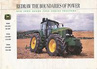 John Deere 7000 series tractors Prospekt USA 1993 9/93 brochure prospectus