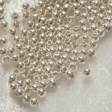 Pack of 50 ~ 2.5mm Sterling Silver Round Seamless Spacer Beads