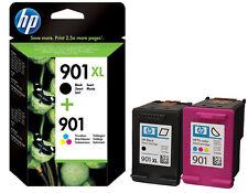 Refilled HP 901XL Black + 901 XL Colour Officejet 4500 4500W  Inkjet Cartridges