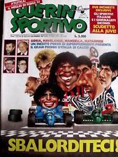Guerin Sportivo 37 1987 Poster Napoli Torino Genaoa Catanzaro Messina Lazio Parm