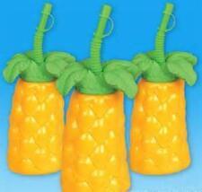 "12 PALM TREE CUPS 7"" TALL 16 oz Luau Party Free Shipping"