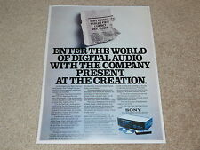 Sony CDP-101 CD Player Ad, 1983, 1st CD Player ever! Audio History!
