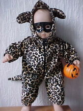 HOODED LEOPARD COSTUME with Black Mask fits Bitty Baby/Twins-Halloween & Parties