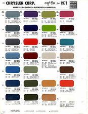 1971 DODGE CHARGER PLYMOUTH BARRACUDA GTX FURY CHRYSLER FORD PAINT CHIPS MS 3