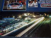 LE MANS 24 HEURES NIGHT POSTER PITS 1985 SPICE TIGA RAY BELLM MARK GALVIN