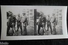 STA549 Sentinelle à la Kommandatur stereoview Photo 1914 WW1 première guerre