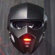 2017 Matt Black Bat Man Mask Motorcycle Helmet Open Face Lamp Red Custom Casco