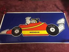 Michelin Man Poster 1970s Rare F1 Formula One TRX Tires Banner Adhesive Sticker