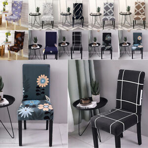 Elastic Spandex Dining Chair Slipcovers Floral Strech Seat Covers Home Decor 1PC