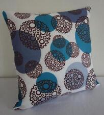 Blues Brown & White Circles Cushion Cover 45cm