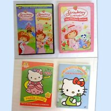 Lot of 4 Hello Kitty & Strawberry Short Cake DVD -  Girls Love It!