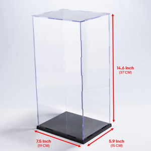 """Clear Acrylic Figure Display Case Box 12"""" 1/6 Scale Figures (Easy self-assembly)"""