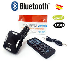 Reproductor BLUETOOTH Transmisor MP3 FM Mechero Coche Radio Volumen USB Led LCD