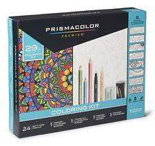 Prismacolor de herramientas completo con lápices de colores y 8 Página para colorear libro