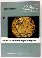 Original GaMi 16 Manual for Microscope Adapter, 8 pages, no print date