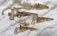 Vintage Gun Cufflinks Collectibles Gifts for Him Antique Cufflinks Gold Pistol Cuff Links