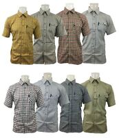 New Country Classics Short Sleeved Quality Check Shirts Poly Cotton S-5XL £13.99
