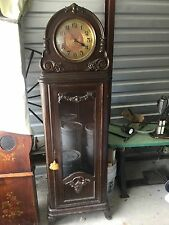 ANTIQUE GERMAN WALNUT GRANDFATHER CLOCK, J BRANDMANN BERLIN Complete Clock