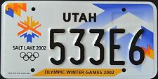 "UTAH "" OLYMPIC GAMES 2002 - SLC "" UT Specialty Graphic License Plate"
