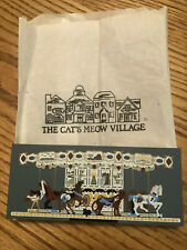 Cat's Meow Village Collection Herschel Spellman Carousel 1997 #286 With Bag
