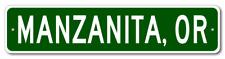 MANZANITA, OREGON  City Limit Sign - Aluminum