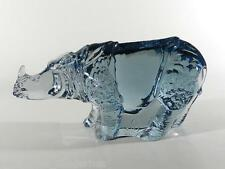 REIJMYRE Sweden Glas Figur ° Nashorn ° World Wildlife Fund 1984 ° sign. P.Hoff