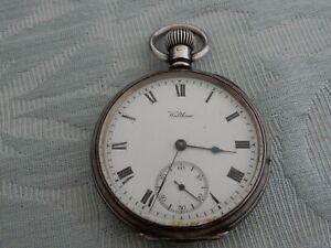 Original 1910 Silver American, Waltham, Stem winding pocket watch, estate watch