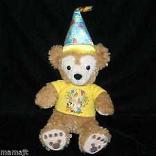 """Duffy It's My Birthday Bear Yellow Shirt Hat 17"""" Hidden Mickey Mouse Faces"""