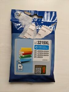 Original Brother LC3219XL Cyan Ink Cartridge Toner Use by Oct 2023