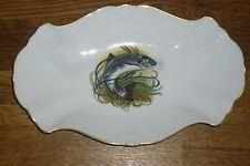 Platte 25,5 cm/ 16 cm Hutschenreuther  Baronesse  Goldrand  Fisch  Fischmotiv