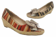 Wedge Bow Synthetic Heels for Women
