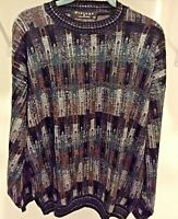Vintage 90s Protege Collection Sweater Cosby Style Biggie Size XL