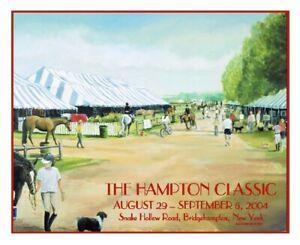 Hampton Classic Horse Show Poster 2004 Jocelyn Sandor Original RARE