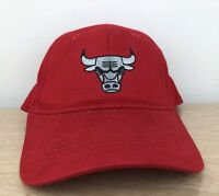 Chicago Bulls NBA Strapback Red Adjustable Embroidered Dad Hat Cap