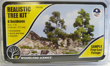 Woodland Scenics TR1112 3-7 Med Green Deciduous Tree Kit (Pack 6)