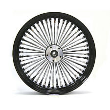 "FAT SPOKE 18"" 250mm REAR WHEEL BLACK 18 X 8.5 HARLEY CUSTOM SOFTAIL RIGID"