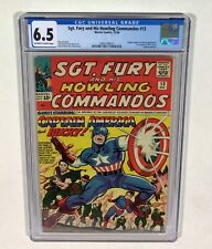 Sgt. Fury and His Howling Commandos #13 CGC 6.5 KEY! early Captain America! 1964