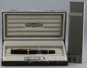 FOUNTAIN PEN PARKER DUOFOLD MKI CENTENNIAL  NUMBERED SERIES NIB EF COMPLETE BOXX